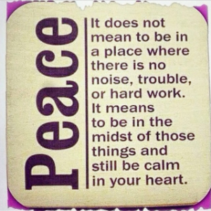 here's to finding that peace in 2015