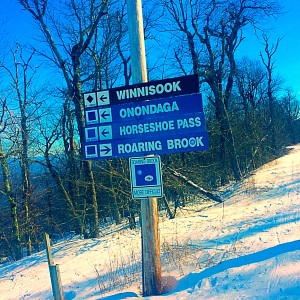 when you're ready to move off the bunny hill, find a nice long blue run.  we found it in Roaring Brook!