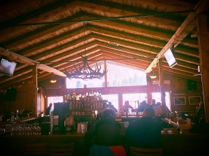 we love the rustic lodge - perfect spot for some après fun #cheers
